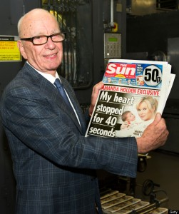 Murdoch proud papa of the Sun